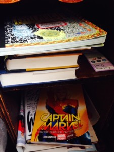 Books on the nighstand Feb 2015